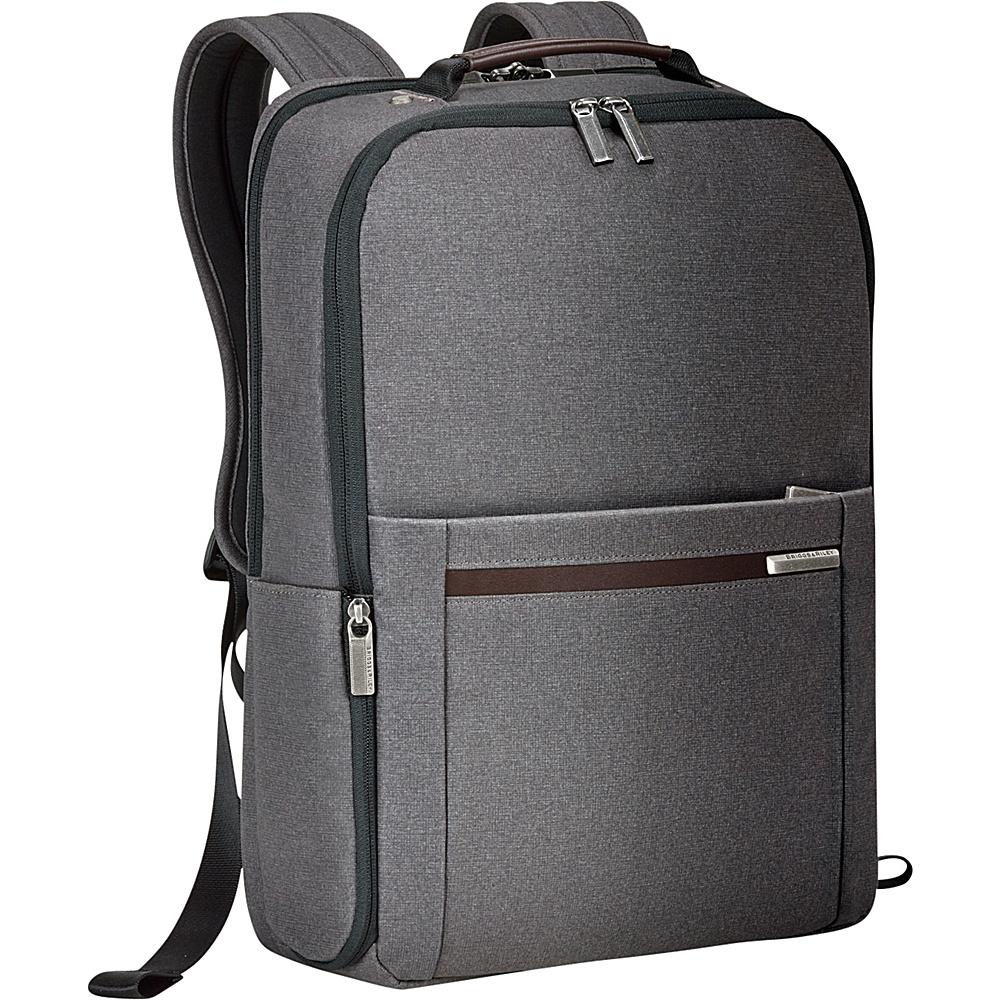 Briggs Riley Kinzie Street Medium Backpack Grey Briggs Riley Business Laptop Backpacks