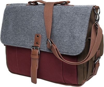 Something Strong Tri-Color Messenger bag with Laptop Compartment Maroon/Grey/Olive - Something Strong Messenger Bags