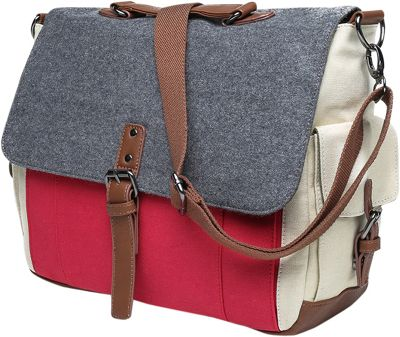 Something Strong Tri-Color Messenger bag with Laptop Compartment Red/Grey/White - Something Strong Messenger Bags