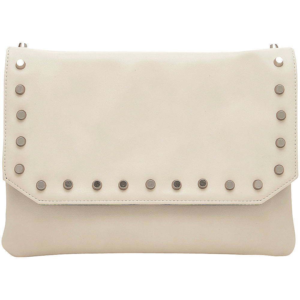 HButler Mighty Purse Cell Charging Flap Crossbody Off White HButler Manmade Handbags