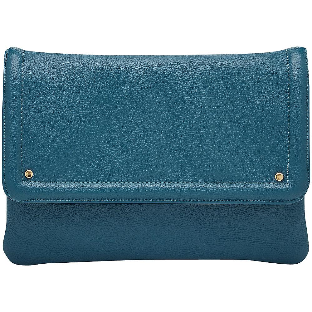 HButler Mighty Purse Cell Charging Flap Crossbody Light Blue HButler Manmade Handbags