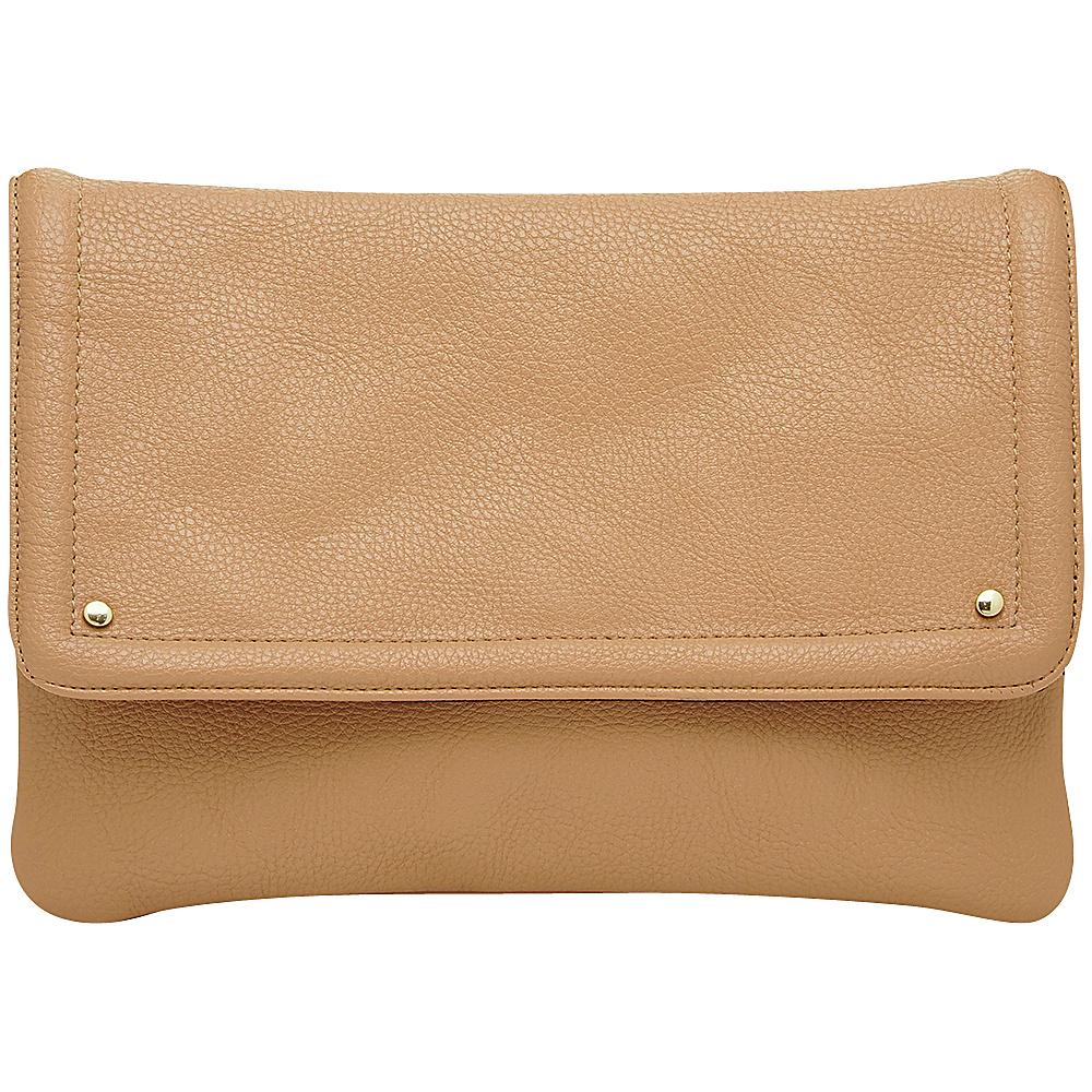 HButler Mighty Purse Cell Charging Flap Crossbody Beige HButler Manmade Handbags