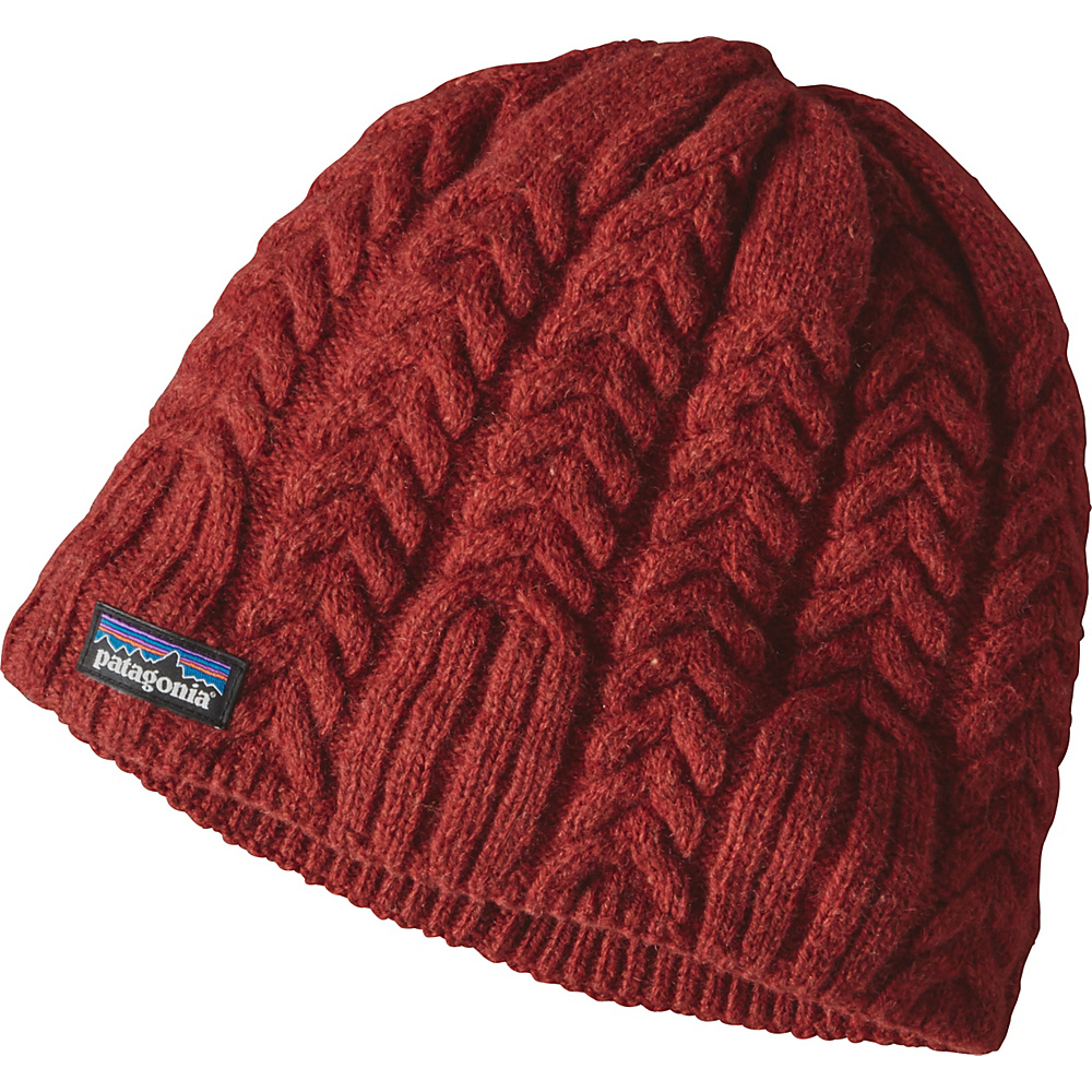 Patagonia Ws Cable Beanie One Size - Cinder Red - Patagonia Hats/Gloves/Scarves - Fashion Accessories, Hats/Gloves/Scarves