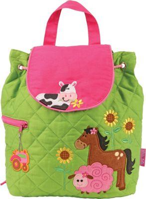 Stephen Joseph Quilted Backpack Farm - Girl - Stephen Joseph Everyday Backpacks