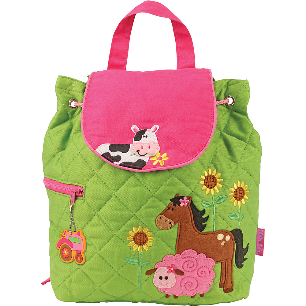 Stephen Joseph Quilted Backpack Farm - Girl - Stephen Joseph Everyday Backpacks