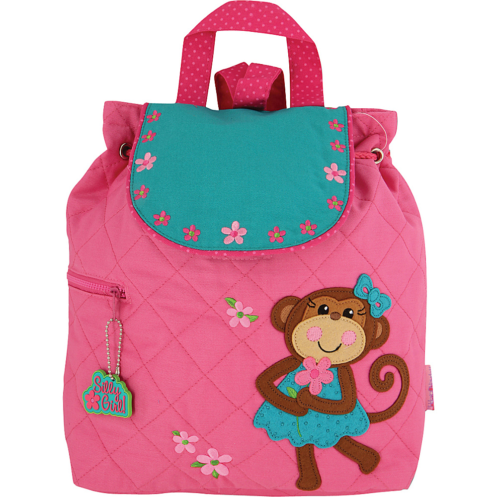 Stephen Joseph Quilted Backpack Monkey - Girl - Stephen Joseph Everyday Backpacks - Backpacks, Everyday Backpacks