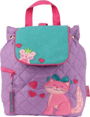 Stephen Joseph Quilted Backpack Cat - Stephen Joseph Everyday Backpacks