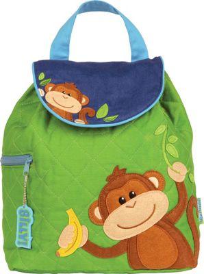 Stephen Joseph Quilted Backpack Monkey - Boy - Stephen Joseph Everyday Backpacks