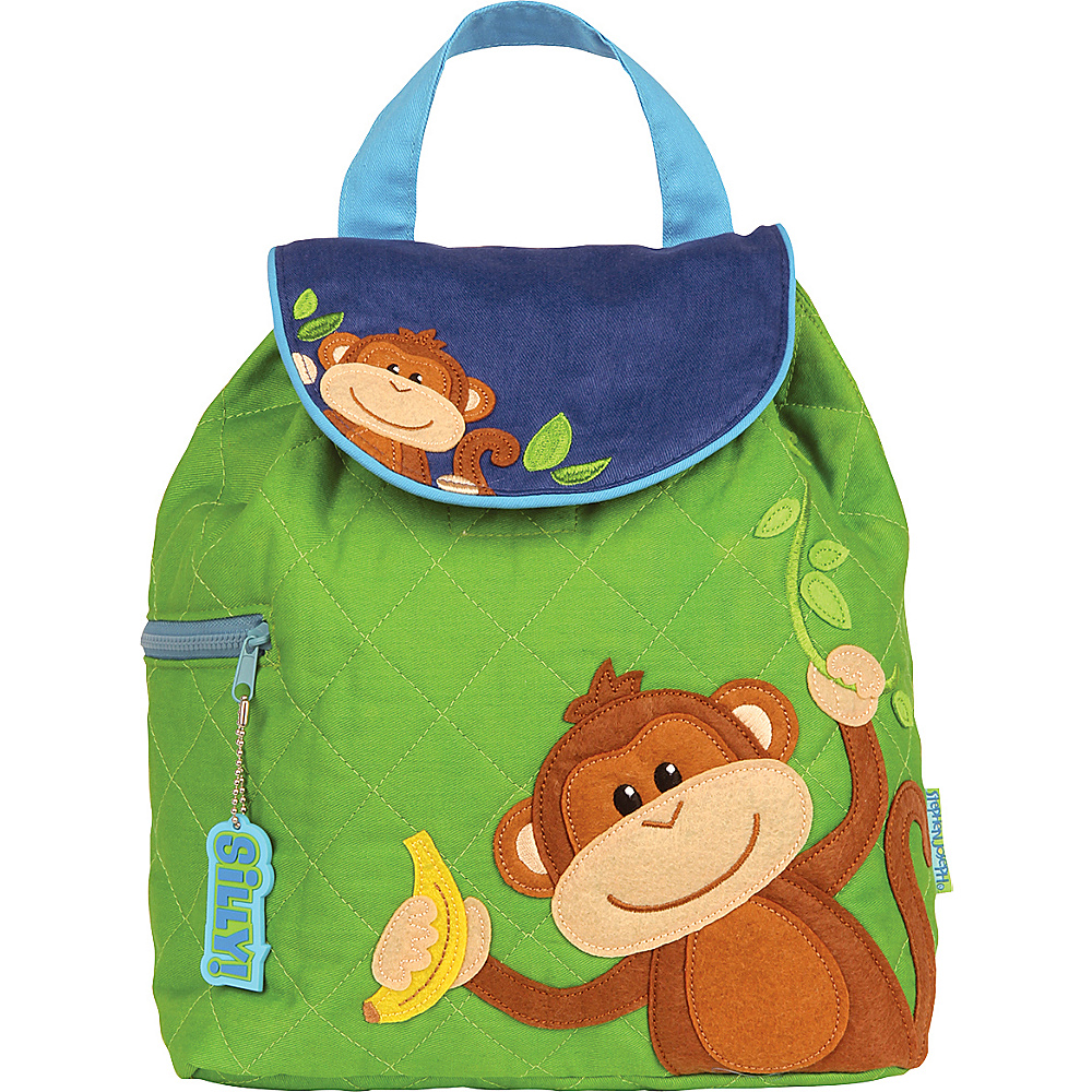 Stephen Joseph Quilted Backpack Monkey Boy Stephen Joseph Everyday Backpacks