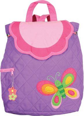 Stephen Joseph Quilted Backpack Butterfly - Purple - Stephen Joseph Everyday Backpacks