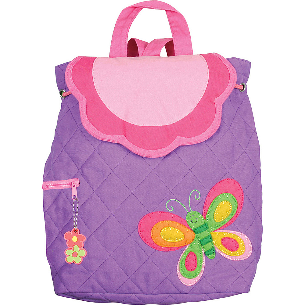 Stephen Joseph Quilted Backpack Butterfly Purple Stephen Joseph Everyday Backpacks