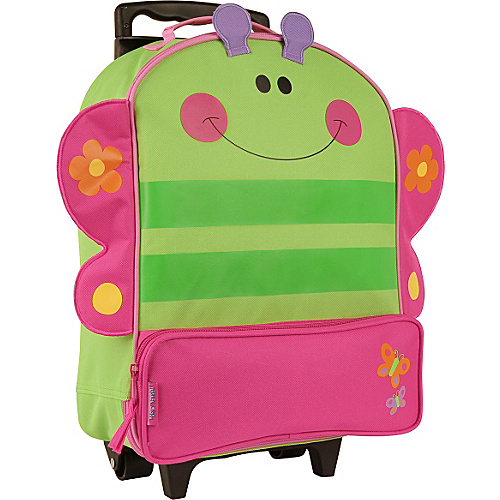 Stephen Joseph Character Rolling Luggage Butterfly - Stephen Joseph Softside Carry-On