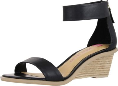 Elaine Turner Zahara Wedge 8 - Black - Elaine Turner Women's Footwear