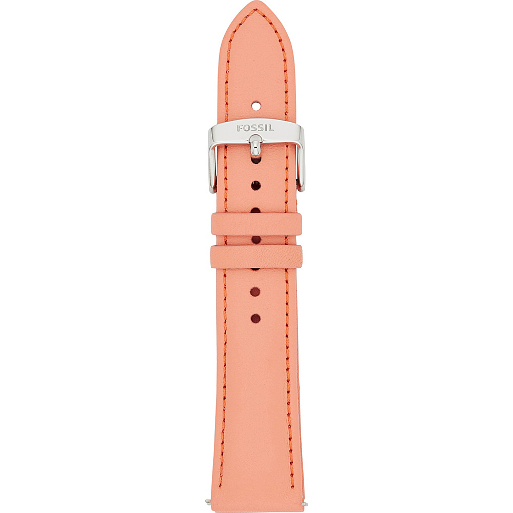 Fossil 20mm Leather Watch Strap Pink - Fossil Watches - Fashion Accessories, Watches