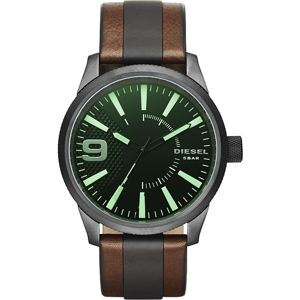 Diesel Watches Rasp Leather Watch Brown - Diesel Watches Watches