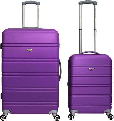 American Green Travel TSA Lock 2-Piece Set Purple - American Green Travel Luggage Sets