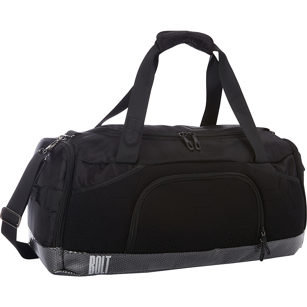 M Edge Bolt Duffel with Battery Black Lime M Edge Travel Duffels