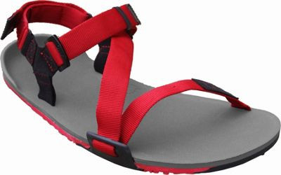 Image of Xero Shoes Umara Z-Trail Mens Ultimate Trail-Friendly Sandal 12 - Coal Black / Charcoal / Red Pepper - Xero Shoes Men's Footwear