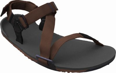 Image of Xero Shoes Umara Z-Trail Mens Ultimate Trail-Friendly Sandal 6 - Coal Black / Coffee / Mocha - Xero Shoes Men's Footwear