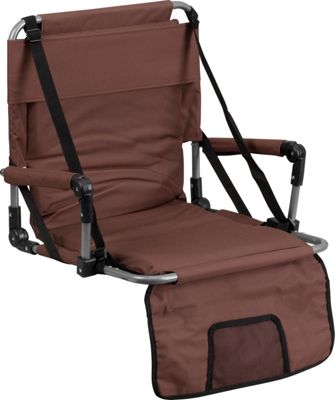 Flash Furniture Folding Stadium Chair Brown - Flash Furniture Sports Accessories