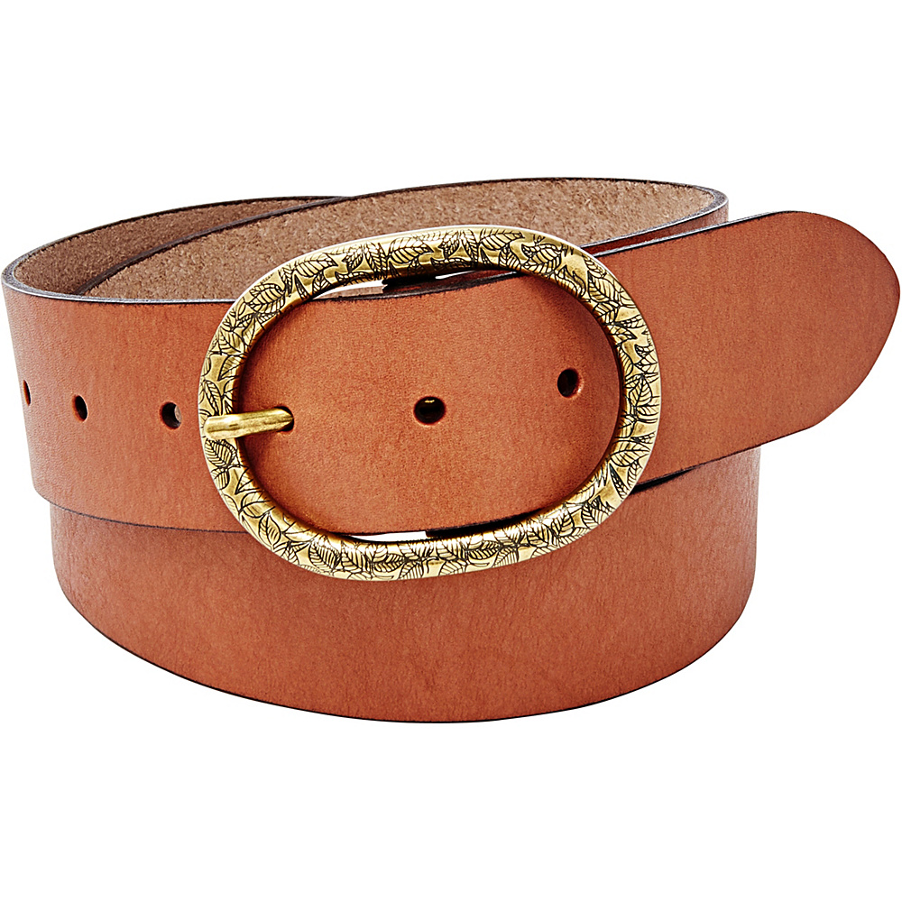 Fossil Vintage Oval Buckle Belt M - Brown - Fossil Belts - Fashion Accessories, Belts