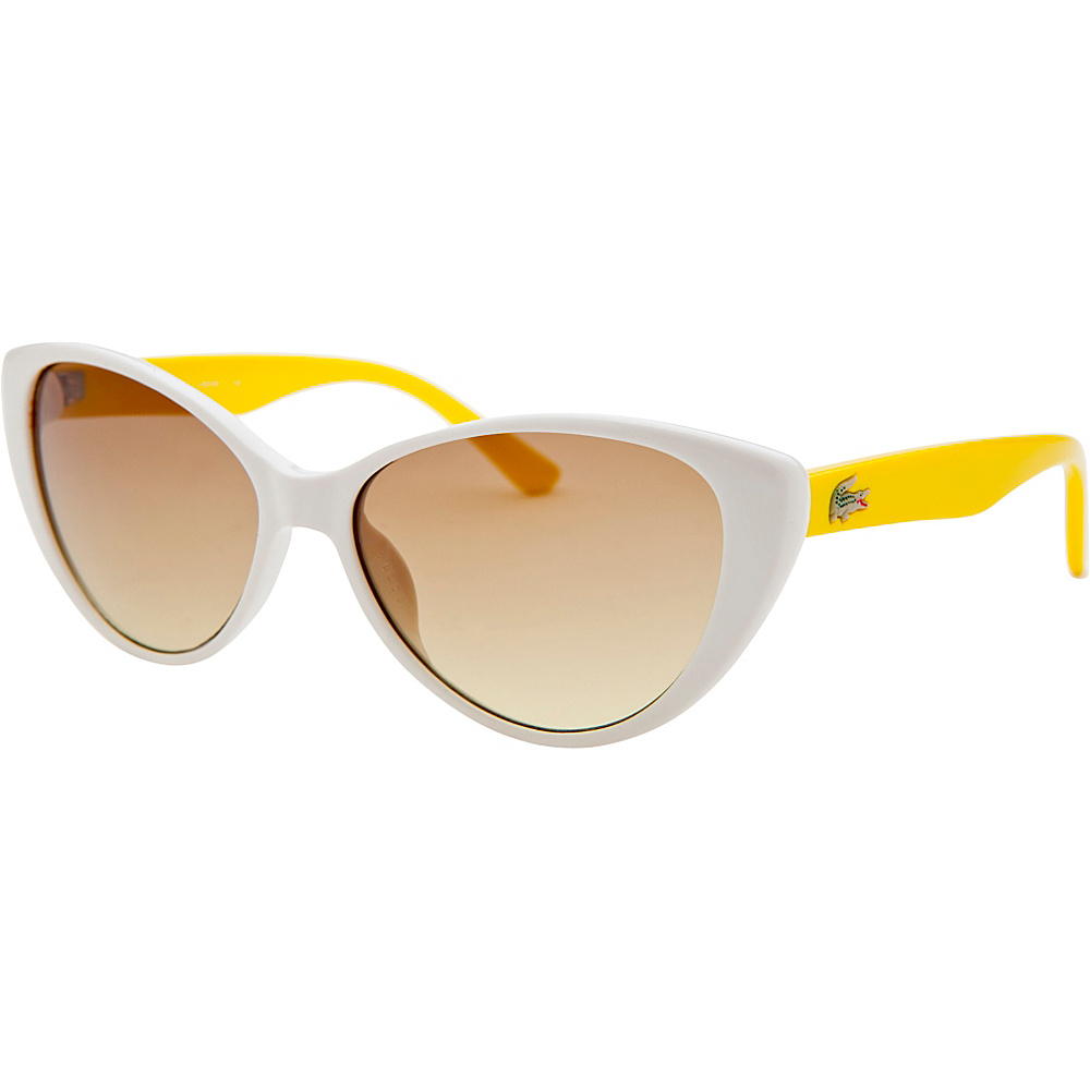 Lacoste Eyewear Cat Eye Kids Sunglasses White - Lacoste Eyewear Sunglasses