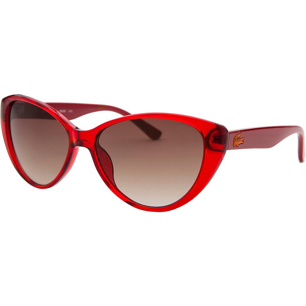 Lacoste Eyewear Cat Eye Kids Sunglasses Red Translucent - Lacoste Eyewear Sunglasses