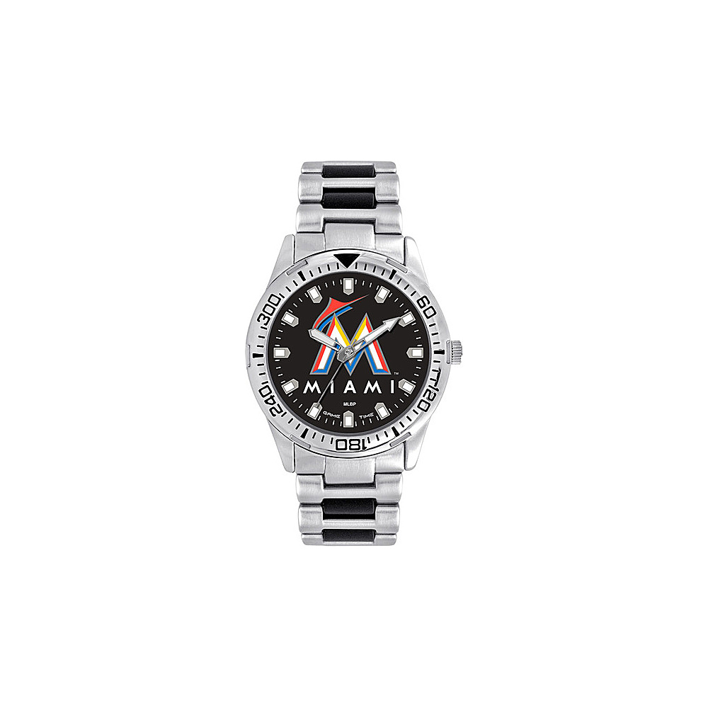 Game Time Mens Heavy Hitter-MLB Watch Miami Marlins - Game Time Watches - Fashion Accessories, Watches