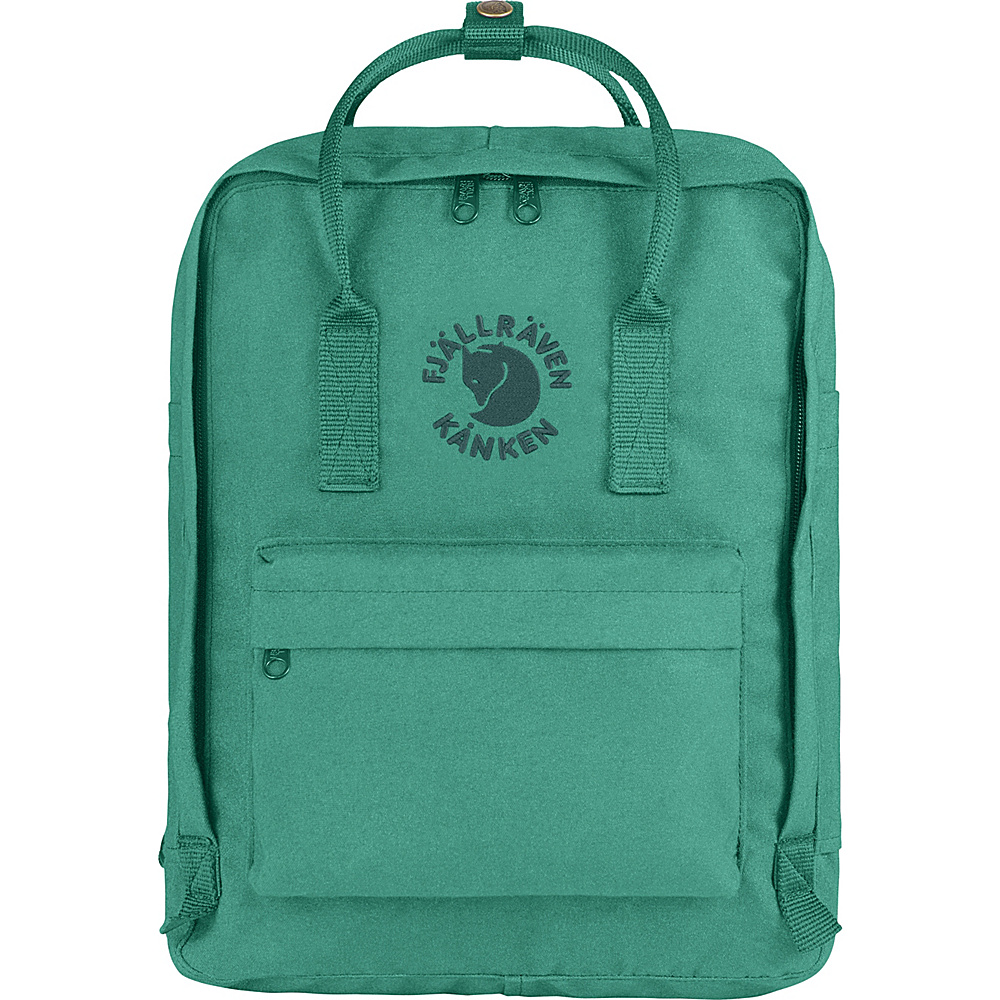 Fjallraven Re-Kanken Backpack Emerald - Fjallraven Everyday Backpacks - Backpacks, Everyday Backpacks