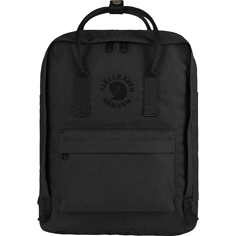 Fjallraven Re-Kanken Backpack Black - Fjallraven Everyday Backpacks - Backpacks, Everyday Backpacks