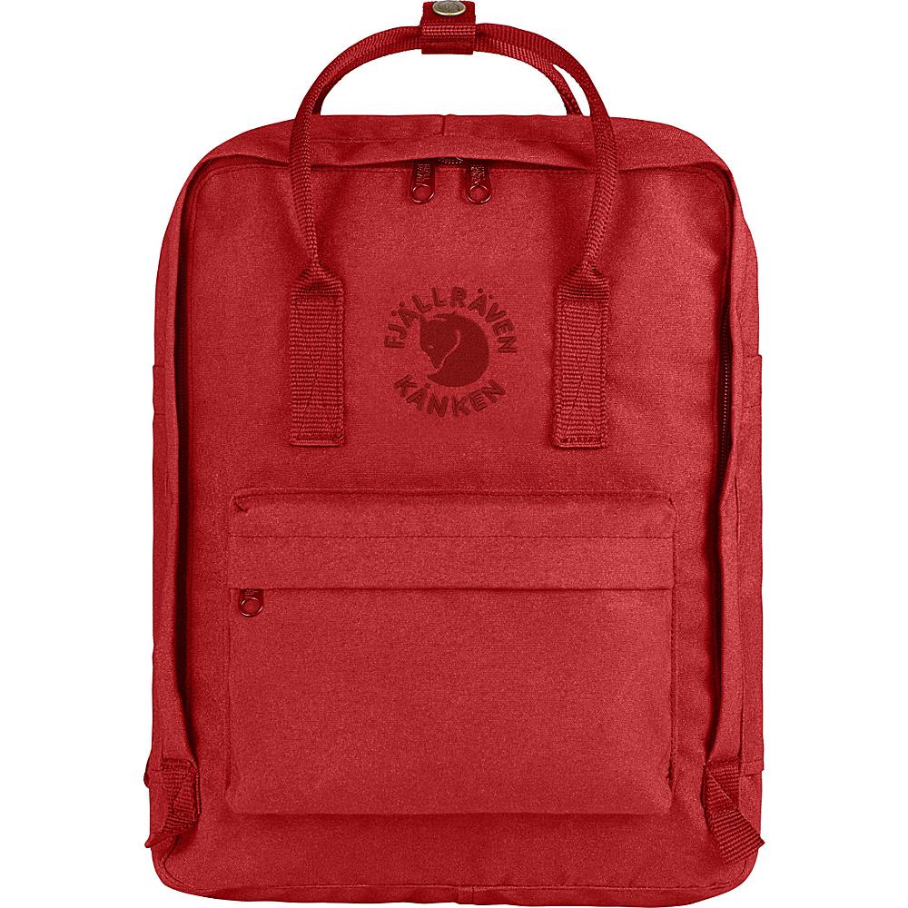 Fjallraven Re-Kanken Backpack Red - Fjallraven Everyday Backpacks - Backpacks, Everyday Backpacks