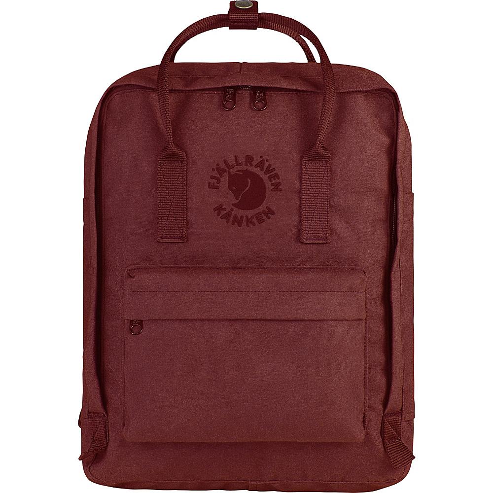 Fjallraven Re-Kanken Backpack Ox Red - Fjallraven Everyday Backpacks - Backpacks, Everyday Backpacks
