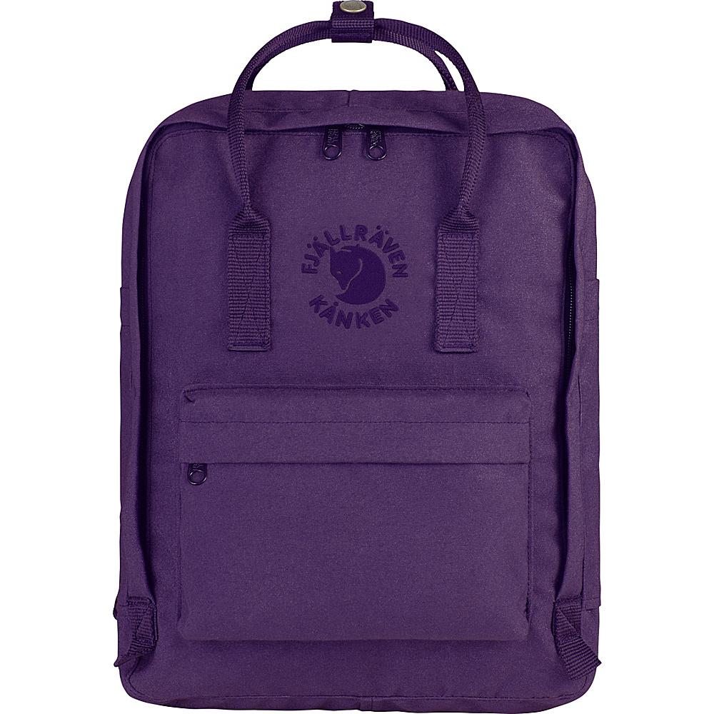 Fjallraven Re-Kanken Backpack Deep Violet - Fjallraven Everyday Backpacks - Backpacks, Everyday Backpacks