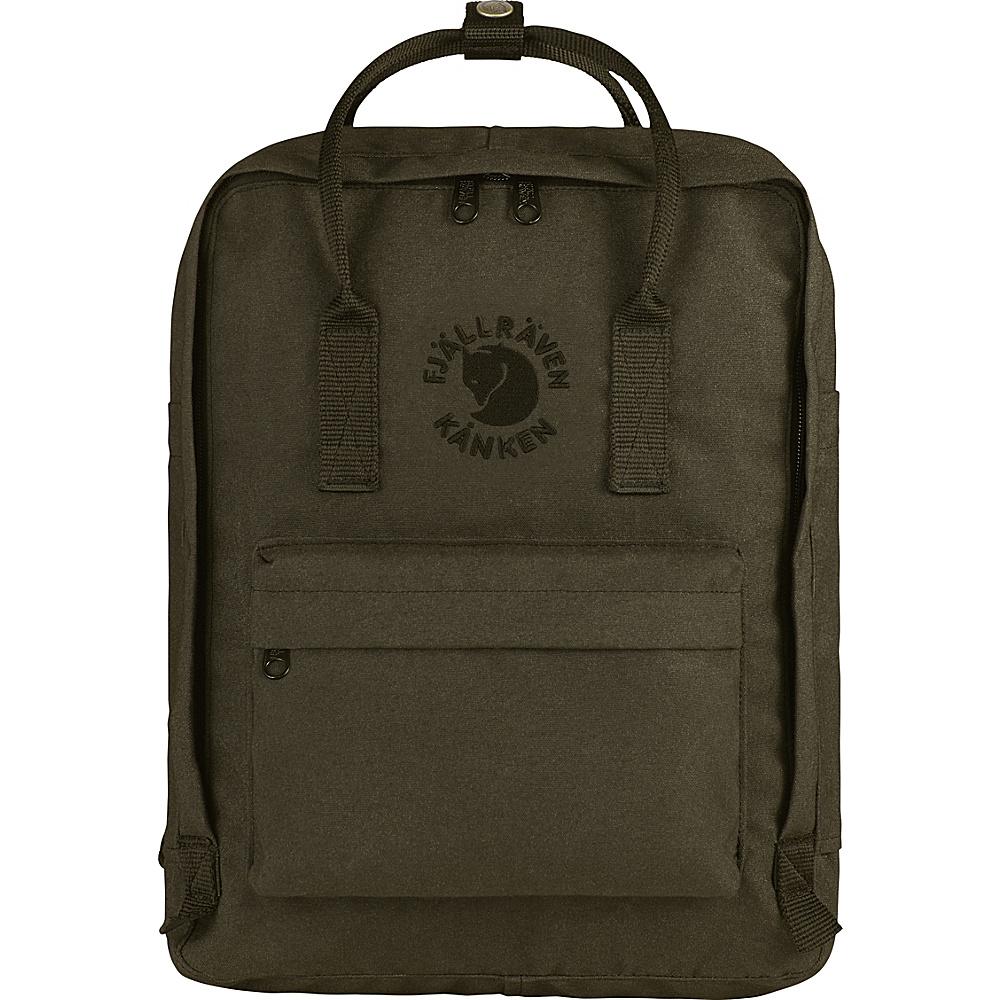 Fjallraven Re-Kanken Backpack Dark Olive - Fjallraven Everyday Backpacks - Backpacks, Everyday Backpacks