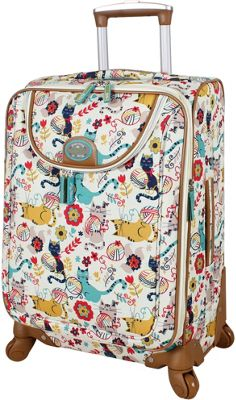 Lily Bloom 20 inch Exp Spinner Luggage Furry Friends - Lily Bloom Softside Carry-On