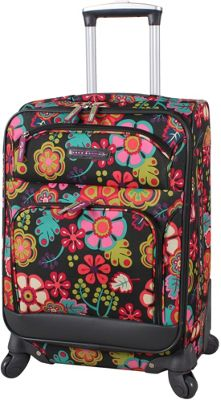 Lily Bloom 20 inch Exp Spinner Luggage Folky Floral - Lily Bloom Softside Carry-On