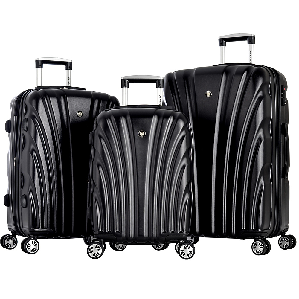 Olympia USA Vortex Luggage Set Black - Olympia USA Luggage Sets