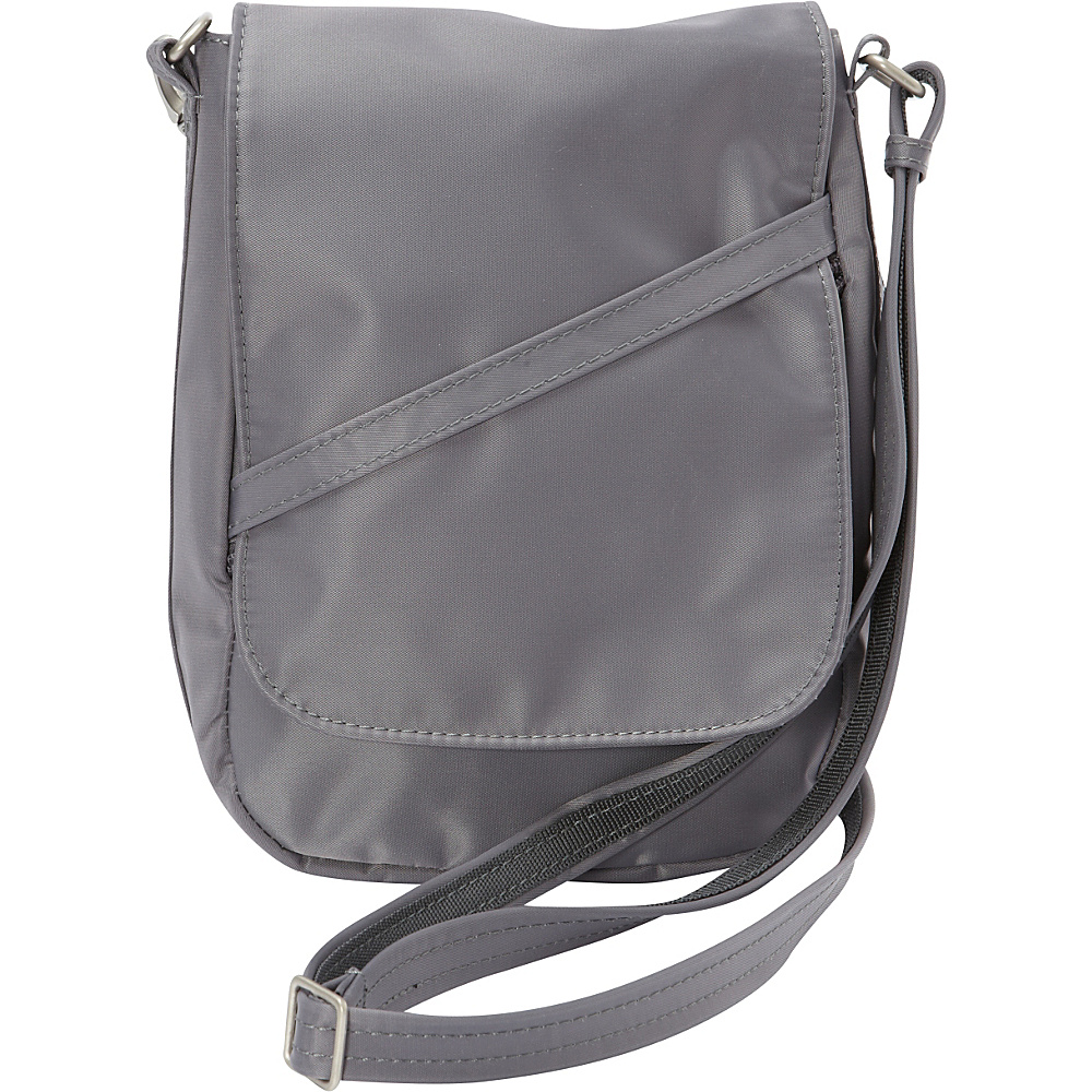 BeSafe by DayMakers RFID Medium U Shape LX Sling Pewter BeSafe by DayMakers Fabric Handbags