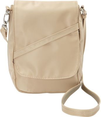 BeSafe by DayMakers RFID Medium U-Shape LX Sling Taupe - BeSafe by DayMakers Fabric Handbags