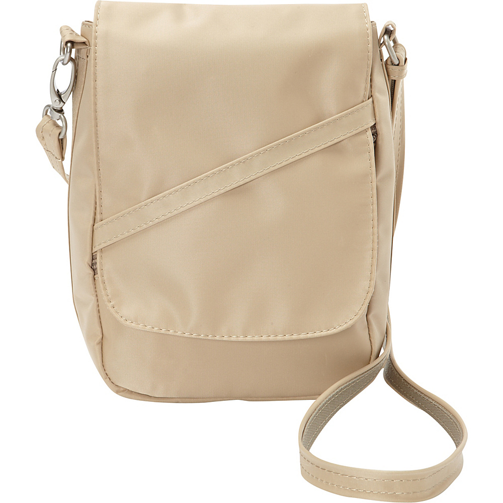 BeSafe by DayMakers RFID Medium U Shape LX Sling Taupe BeSafe by DayMakers Fabric Handbags