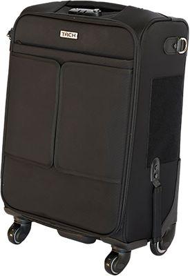 TACH Luggage Single Carry-on Black - TACH Luggage Softside Carry-On