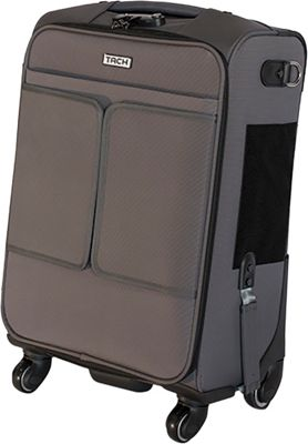 TACH Luggage Single Carry-on Grey - TACH Luggage Softside Carry-On