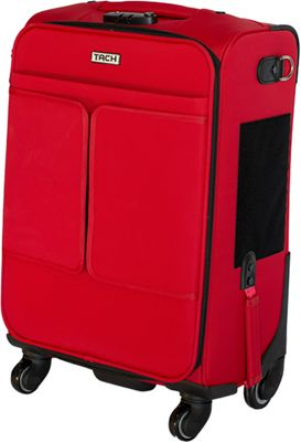 TACH Luggage Single Carry-on Red - TACH Luggage Softside Carry-On