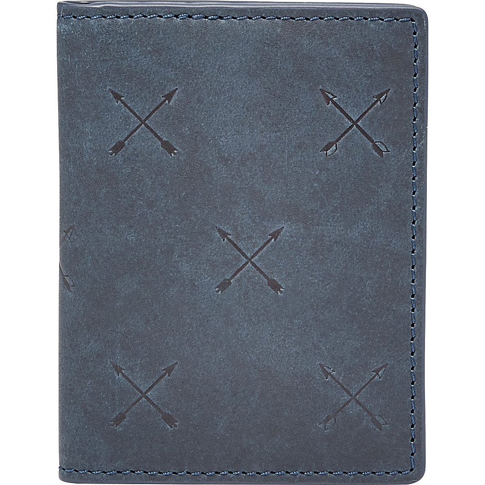 Fossil Maverick Card Case Bifold Blue - Fossil Mens Wallets - Work Bags & Briefcases, Men's Wallets