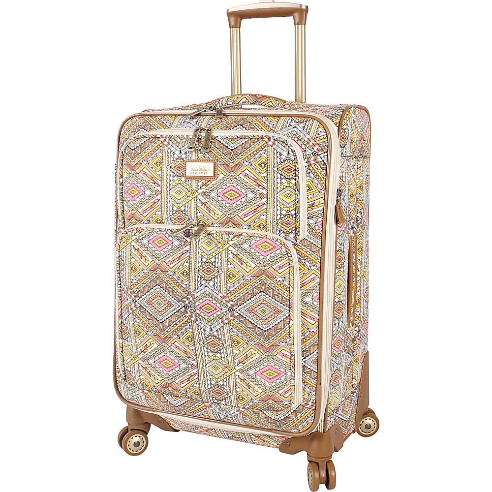"""Nicole Miller NY Luggage Sedona 24"""" Expandable Spinner Yellow - Nicole Miller NY Luggage Softside Checked"""