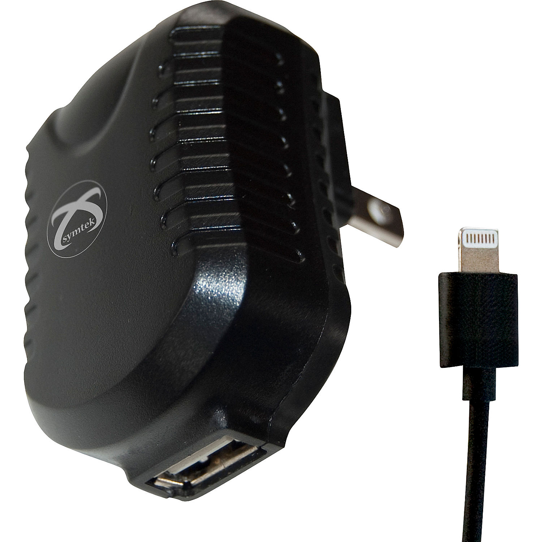 symtek ac charge sync with lightning connector. Black Bedroom Furniture Sets. Home Design Ideas
