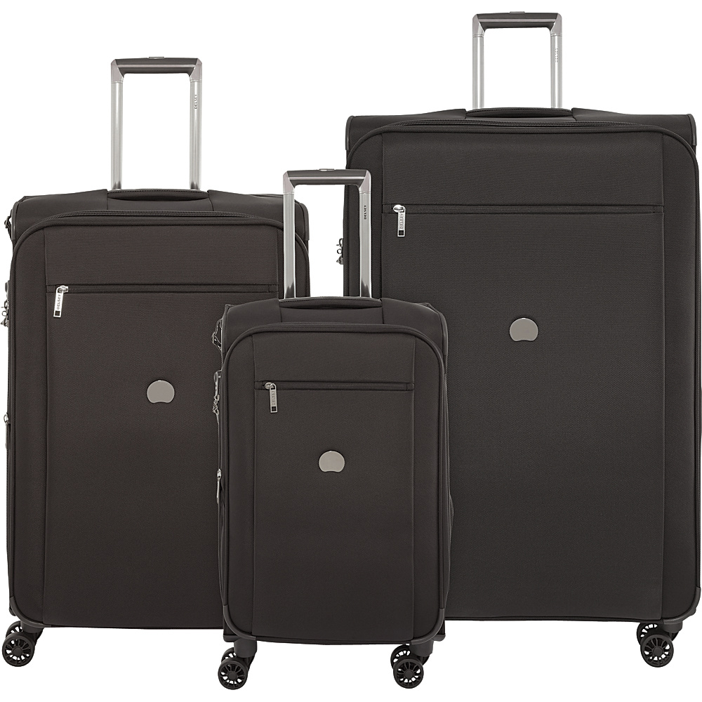 Delsey Montmartre+ 3 Piece Spinner Luggage Set Black - Delsey Luggage Sets