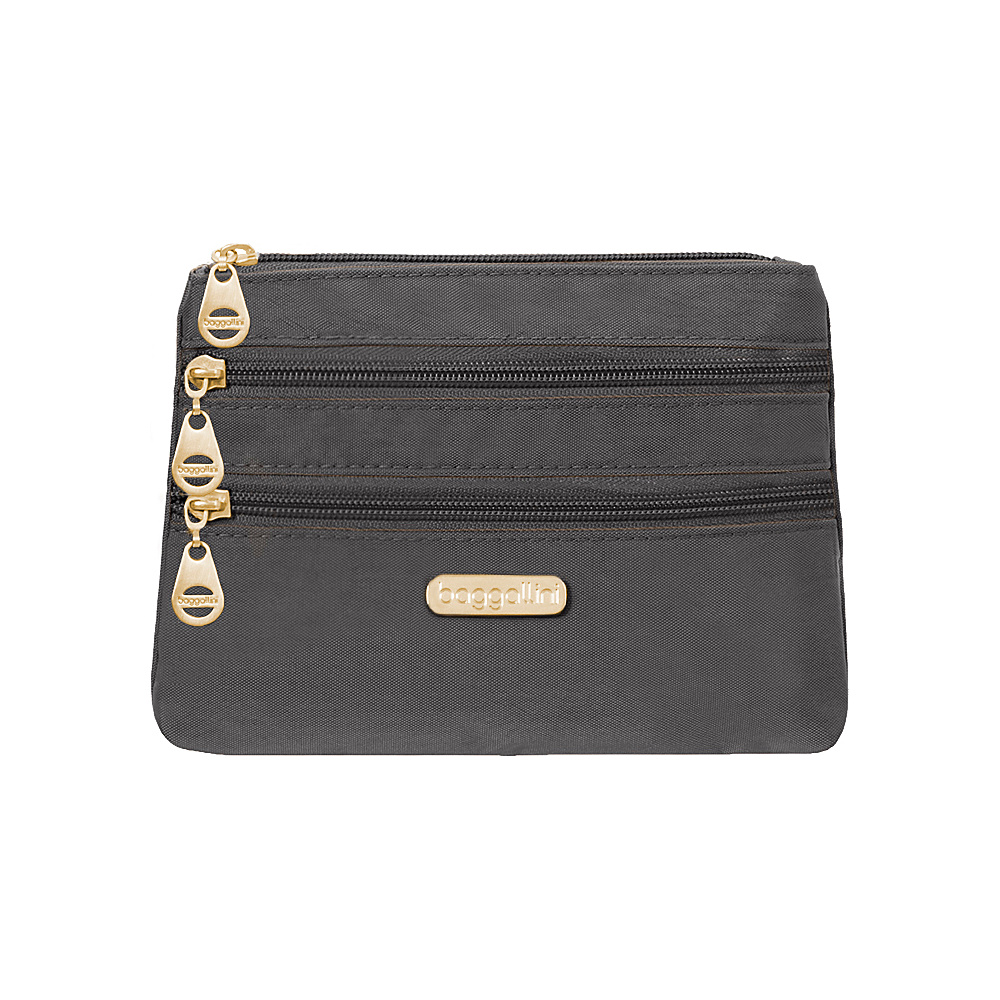 baggallini Shanghai 3 Zip Case Charcoal - baggallini Womens SLG Other - Women's SLG, Women's SLG Other