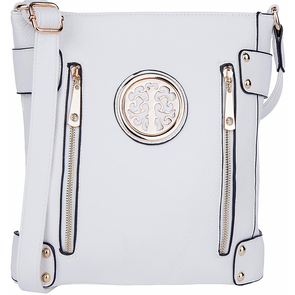 MKF Collection by Mia K. Farrow Fanisa Cross-Body Bag White - MKF Collection by Mia K. Farrow Leather Handbags - Handbags, Leather Handbags