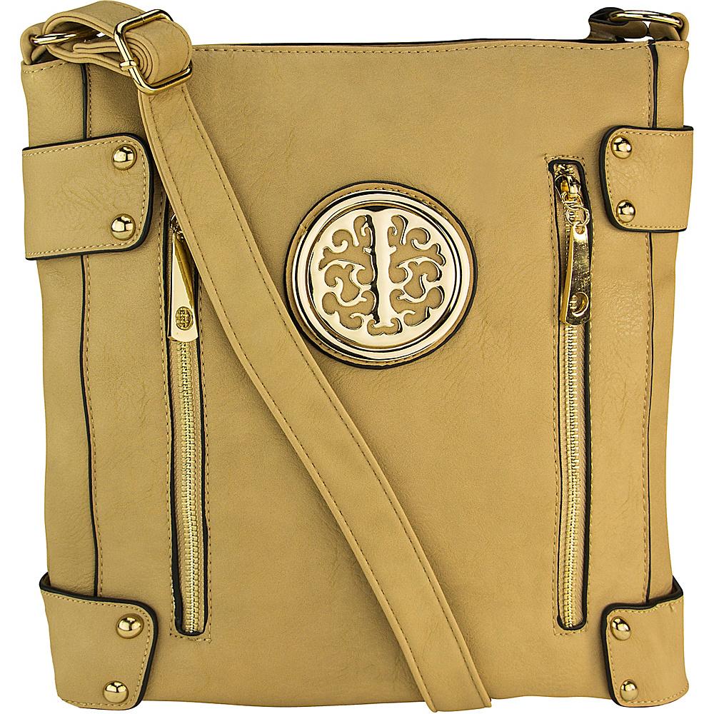MKF Collection by Mia K. Farrow Fanisa Cross-Body Bag Beige - MKF Collection by Mia K. Farrow Leather Handbags - Handbags, Leather Handbags